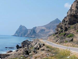 Driving along the coast