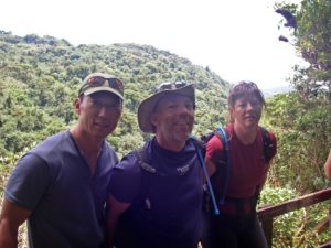 Anna, Dave and Steve pose in the Costa Rican rainforest after the race