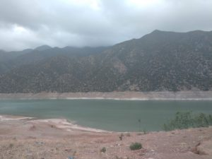 the dammed lake in Ourigane