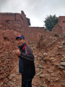 Rachid leading me through Berber ruins