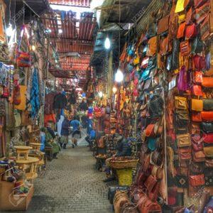 stalls in the Jama el F'na souk